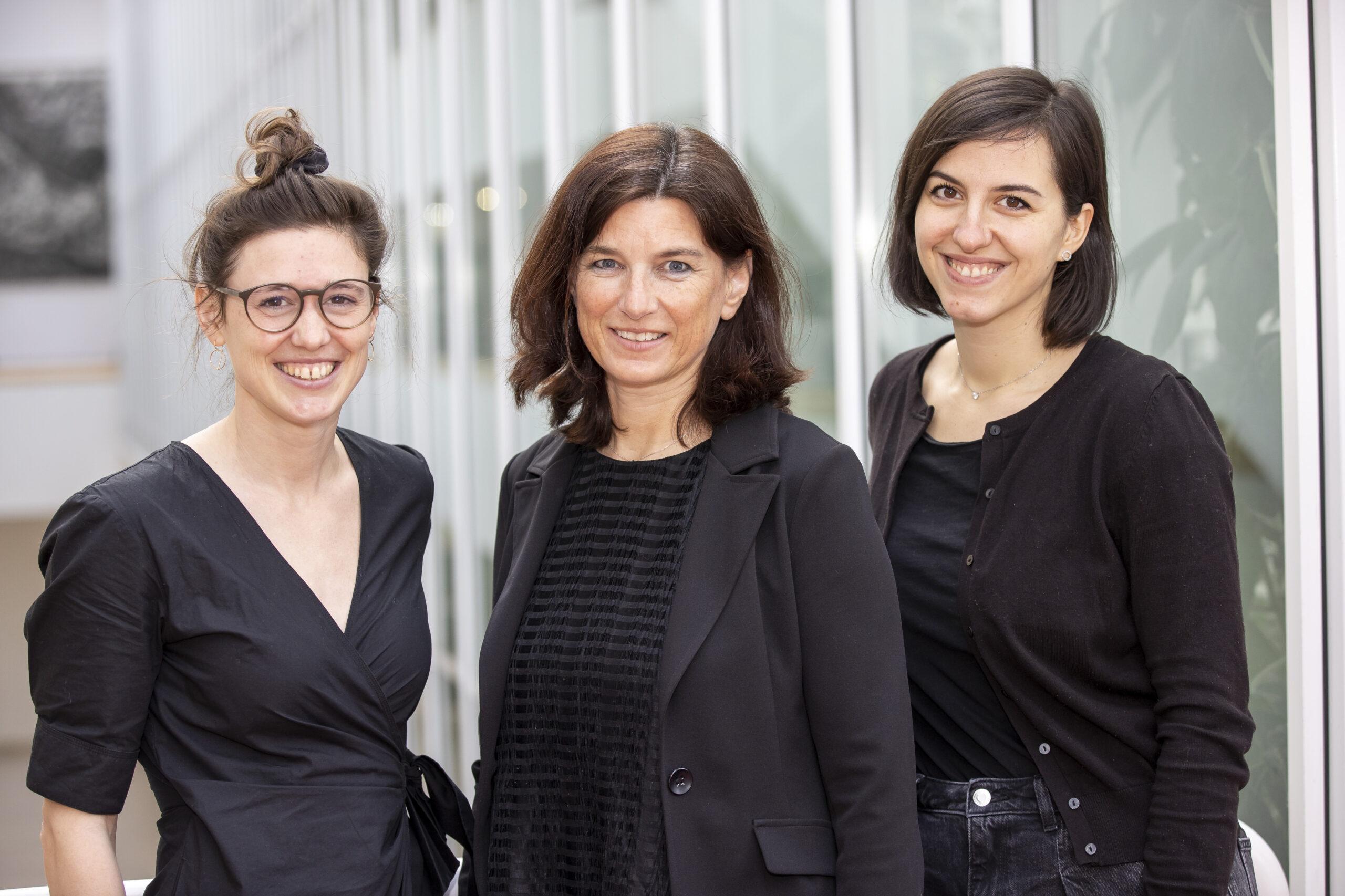 v.l.n.r: Theresa Neuper, Jutta Horejs-Höck, Muamera Sarajlic