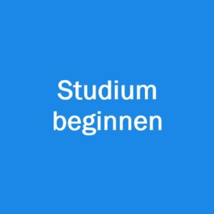 Studium beginnen