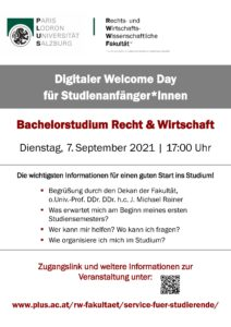 Welcome Day Plakat