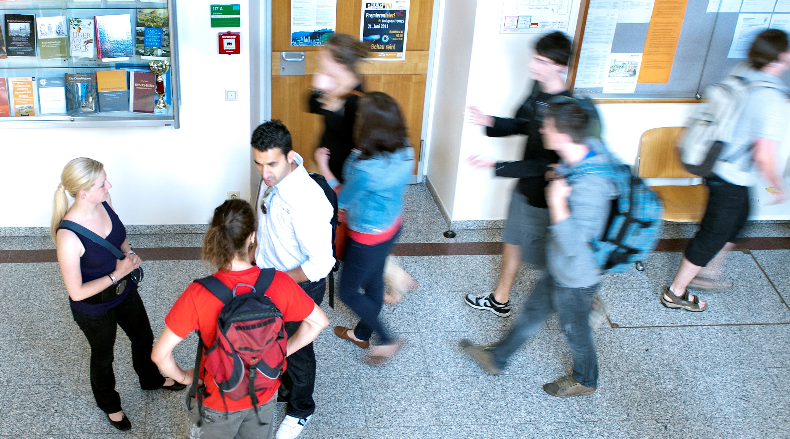 Studierende, Gang, Rudolfskai