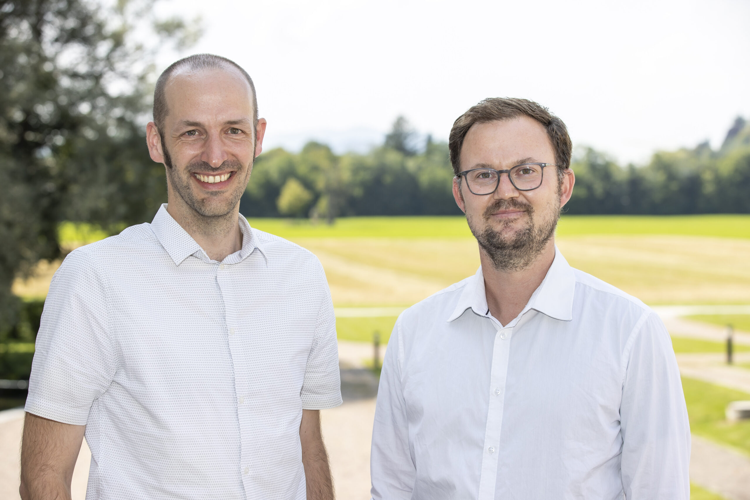 Univ.-Prof. Dr. Christoph von Hagke Leiter AG Geologie und Mag. Dr. Thomas Rinder Projektmitarbeiter, AG Geologie.